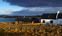 Iona houses before sunset