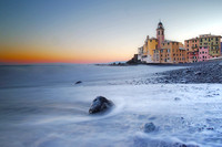 clear dawn, Camogli